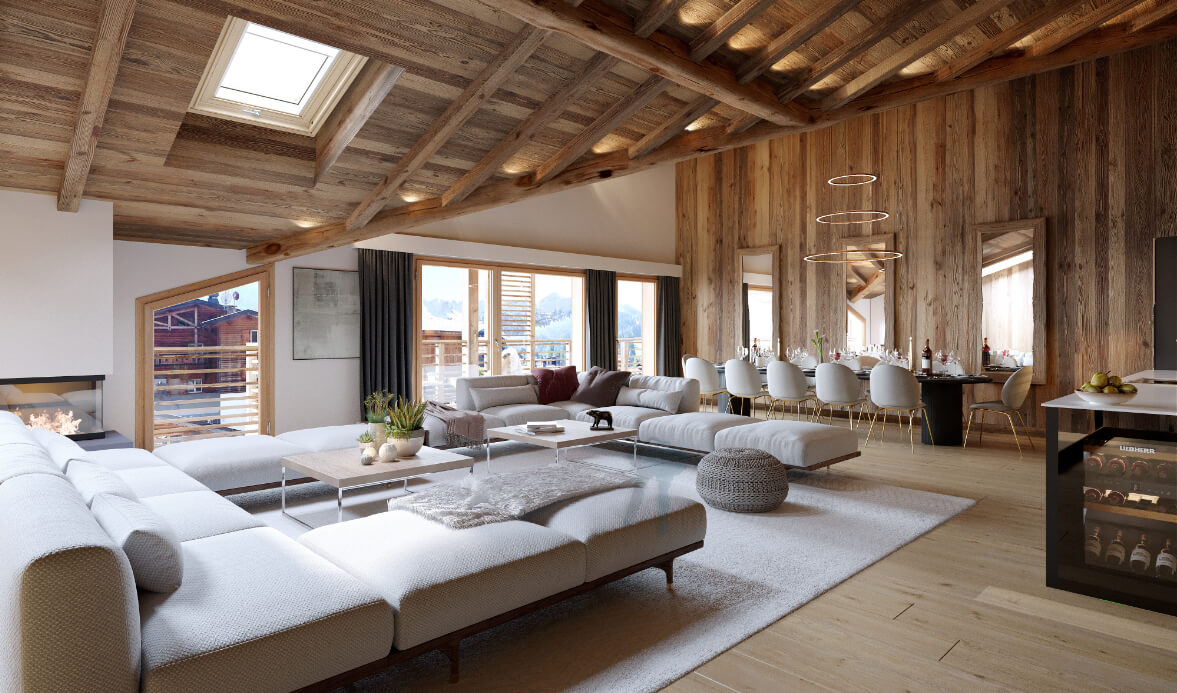 photo of interior and living room les gets alpine property for sale stella findhomeabroad