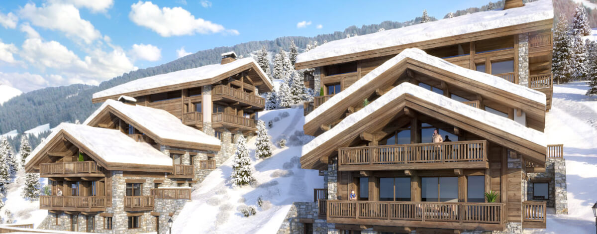 swan lodge meribel main view