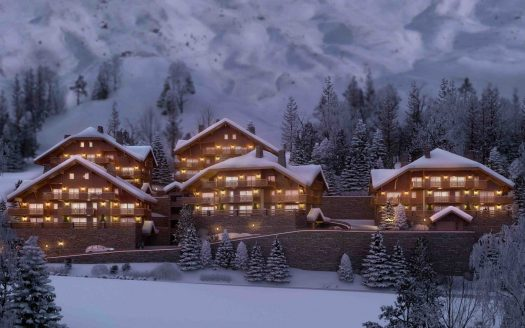 vaujany residence edelweiss outdoor at night