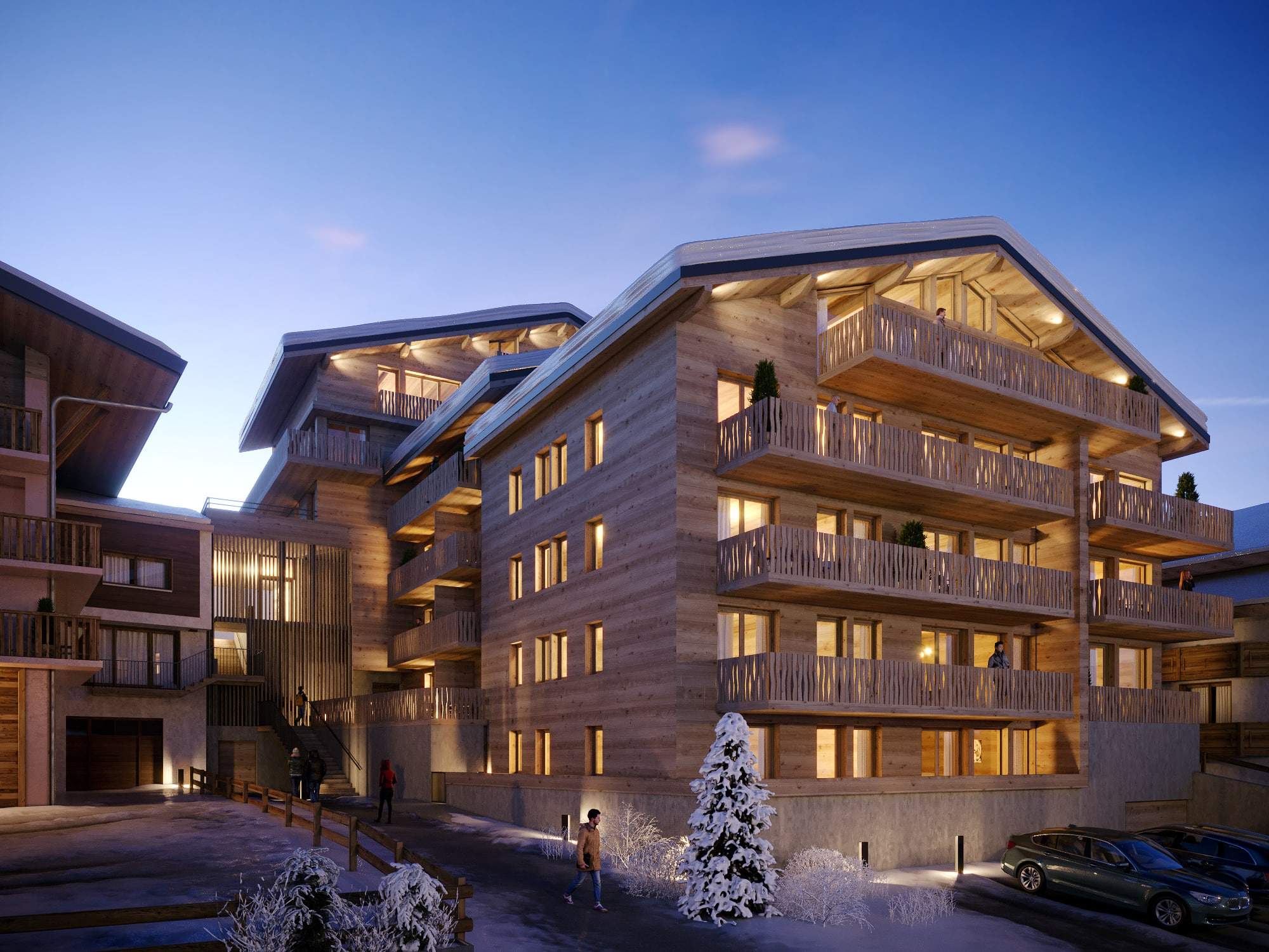chatel club 26 exterior winter