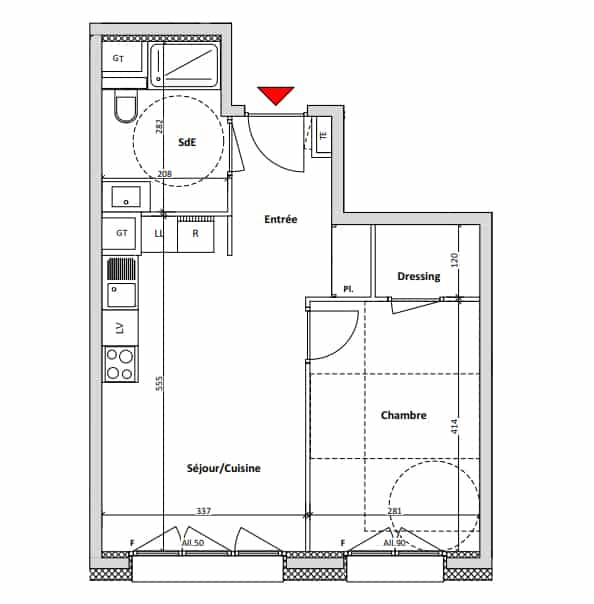 1-bed plan example