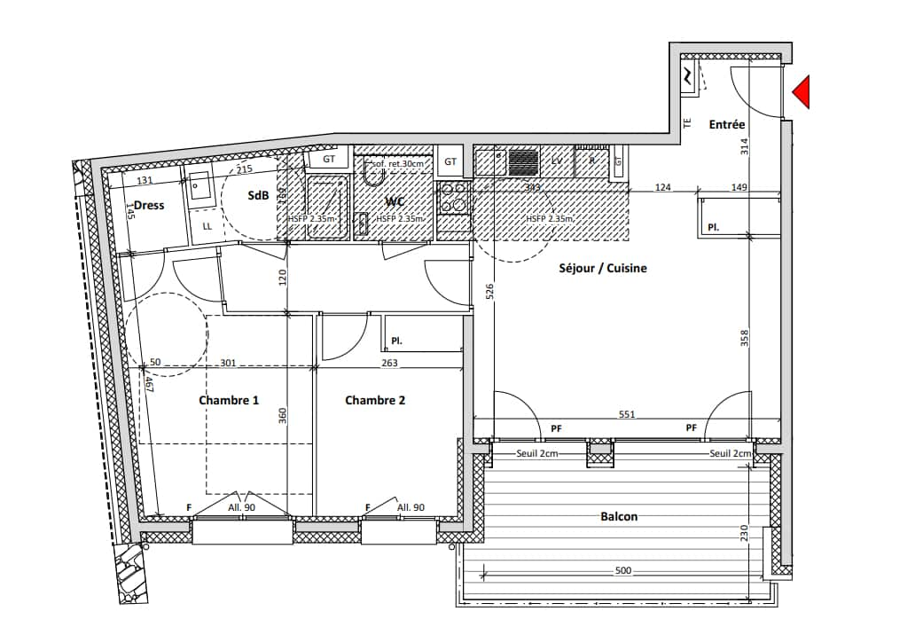 2-bed plan example
