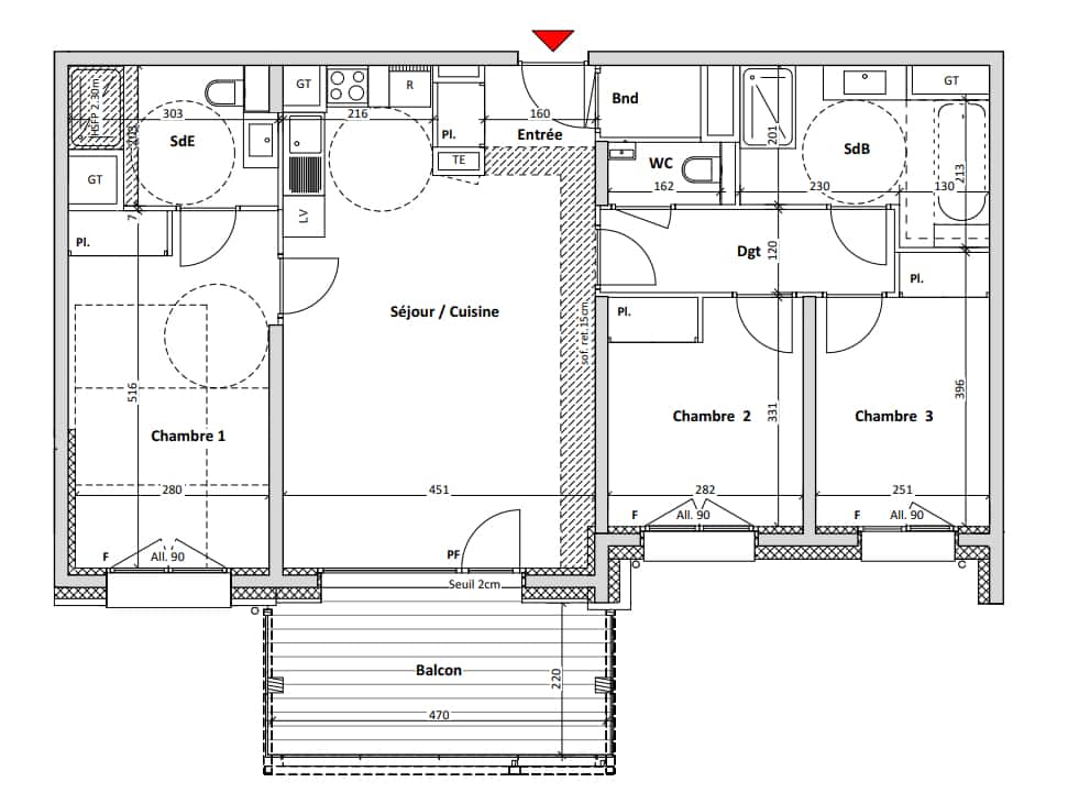 3-bed plan example